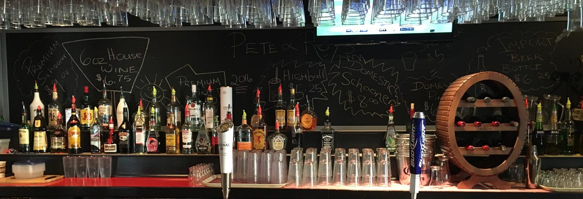 Pete & Roy's Bar selection